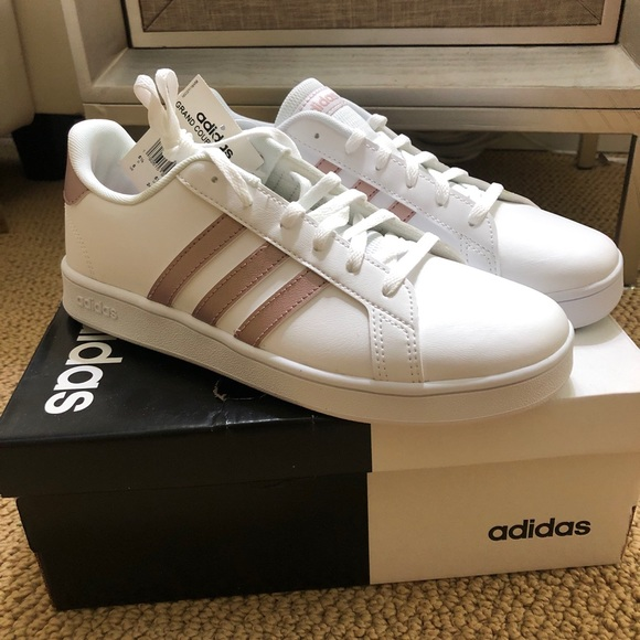 New Adidas Grand Court K Sneakers Rose